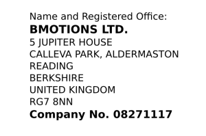 Bmotions Ltd. at CompaniesHouse
